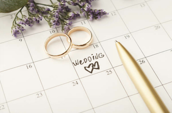 結婚式のタイミング